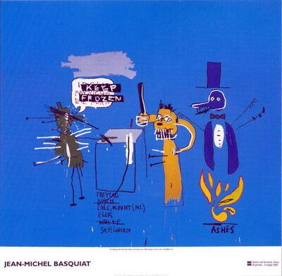 Jean-Michel Basquiat, ''Dingoes That Park Their Brain With Their Gum' exhibition poster', 2002