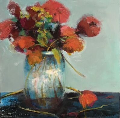 JoAnn Augur, 'Pot of Flowers', 2018