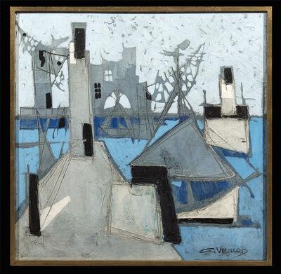 Claude Venard, 'Blue Harbour Lighthouse'