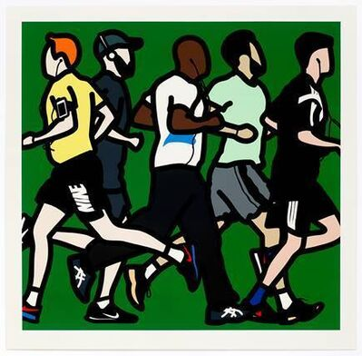 Julian Opie, 'Runners, Running Men', 2016