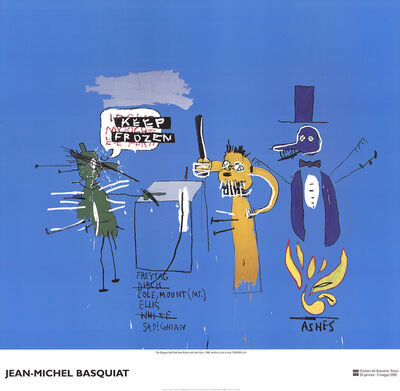 Jean-Michel Basquiat, 'The Dingoes that Park Their Brain with Their Gum', 2002