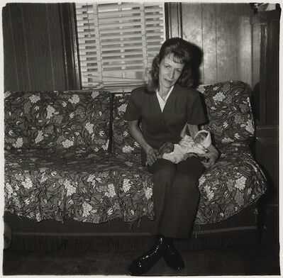 Diane Arbus, 'A Woman with her baby monkey, N.J.', 1971