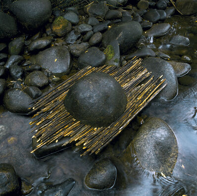 Andy Goldsworthy, 'River boulder reworked with sticks raining, Woody Creek, Colorado, September 2006', 2006