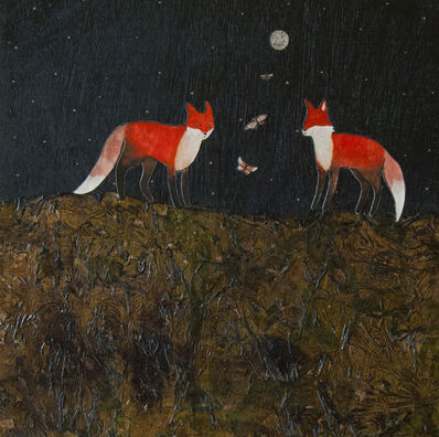 Ashley Anne Clark, 'Red Foxes on the Beach', 2018