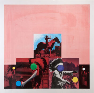 John Baldessari, 'Cliche: North American Indian (Red)', 1995