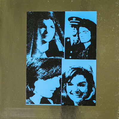 Andy Warhol, 'Jacqueline Kennedy by Andy Warhol on Blue Metallic Paper', 1988