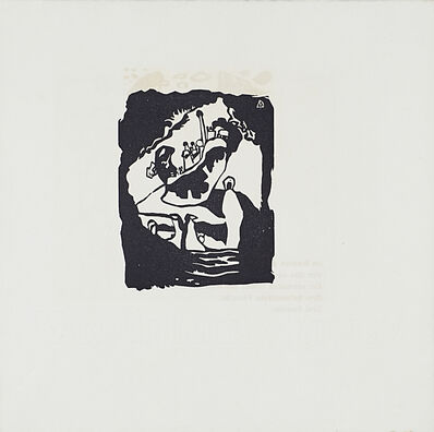 Wassily Kandinsky, '18 black and white woodcuts from Klange', 1913
