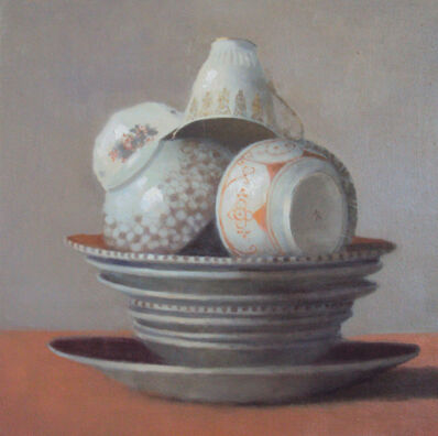 Olga Antonova, 'Cups on Orange Plate', 2016