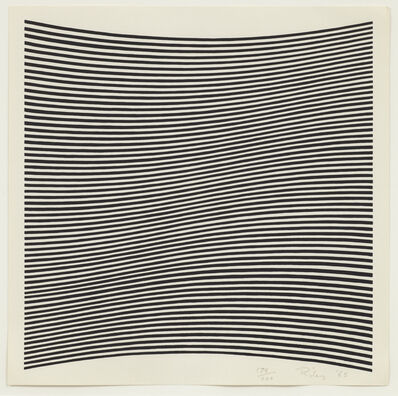 Bridget Riley, 'Untitled (La Lune en Rodage – Carlo Belloli)', 1965