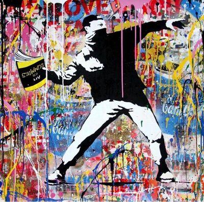 Mr. Brainwash, 'Banksy Thrower', 2019