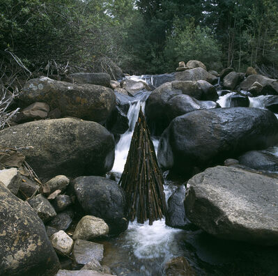 Andy Goldsworthy, 'Stacked, branch, waterfall, spire, Hunter Creek, Colorado, September', 2006