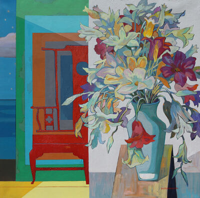 Huang Duo Ling 黄多玲, 'Flower Vase with Chair  ', 2018