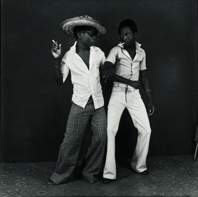 Ambroise Ngaimoko, 'Euphorie de deux jeunes gens qui se retrouvent (Euphoria of Two Youths Who Find Each Other)', 1972