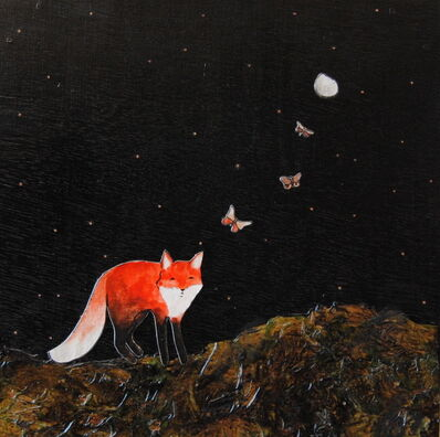 Ashley Anne Clark, 'Red Fox with Three Butterfly', 2018