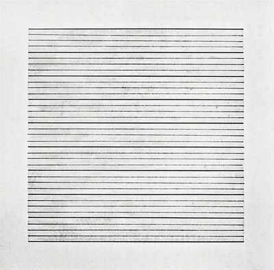 Agnes Martin, 'Untitled  Lithograph on Vellum (from Stedelijk Museum)', 1991