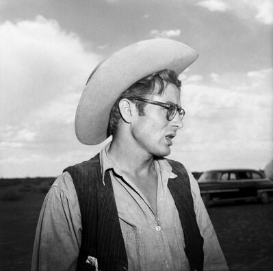 Frank Worth, 'James Dean talking to director on set of 'Giant'', 1955