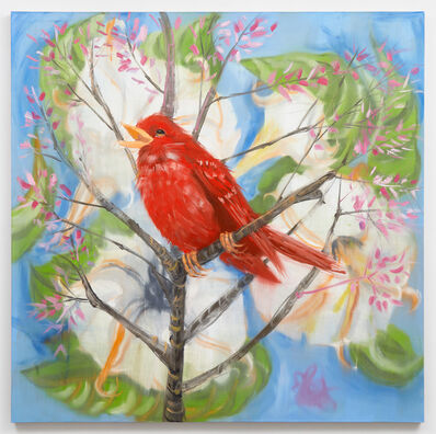 Ann Craven, 'Portrait of a Red Bird (After Picabia), 2019', 2019