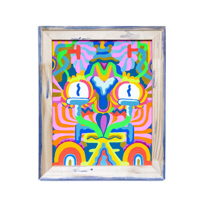 Mike Perry, 'Backwards Painting #1 (Floral face)', 2018