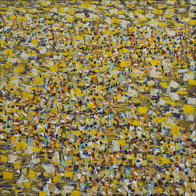 Ablade Glover, 'Yellow Crowd I', 2018