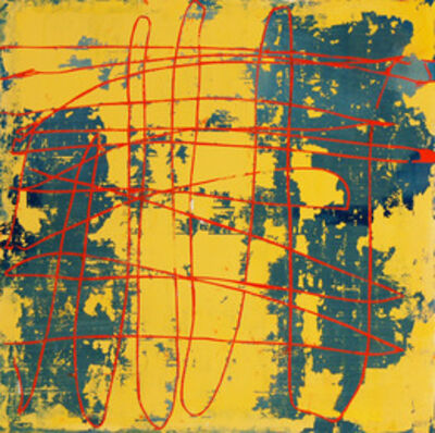 Mary Didoardo, 'Yellow Square, Red Line', 2012
