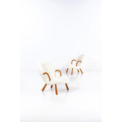 Philip Arctander, 'Clam Model  pair of armchairs'