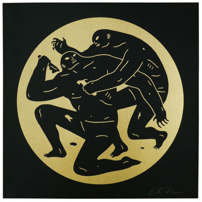 Cleon Peterson, 'DESTROYING THE WEAK I (GOLD)', 2014
