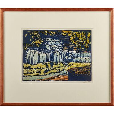 "William S. Rice, '""Mountain Cascade,"" California'"