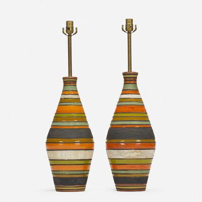 Aldo Londi, 'Thailandia table lamps, pair', c. 1960