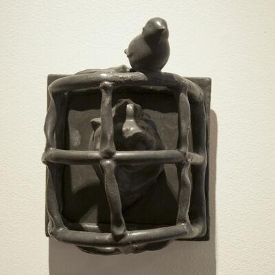Bill Stewart, 'Lion in Cage with Bird (tile)', 2010