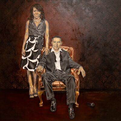 Robert Peterson, 'My President is, Michelle & Barack Obama', 2017
