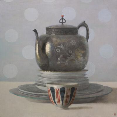 Olga Antonova, 'Teapot, Plates, and Cup', 2018