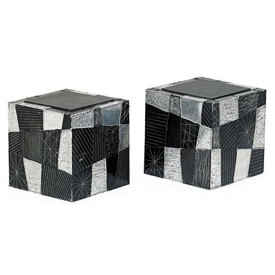 Paul Evans, 'Pair Of Argente Cube Side Tables, New Hope, PA', 1970s