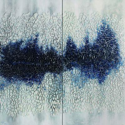 Yu Qi, '相態 NO.011-02 Ceramic on canvas mounted on board  ', 2011