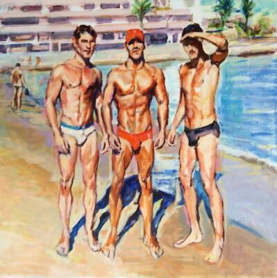 McWillie Chambers, 'Three Men on Tropical Beach', 2018