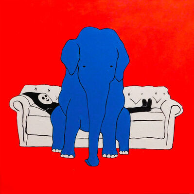 Brian Leo, 'Elephant On The Couch', 2018