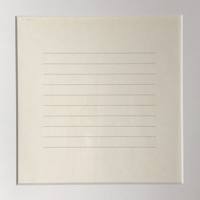 """Agnes Martin, 'Untitled from """"On A Clear Day""""', 1973"""