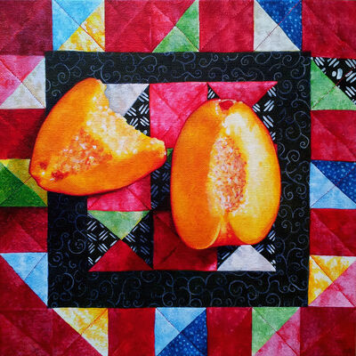 Sarah Atlee, 'Peaches and Quilt', 2014