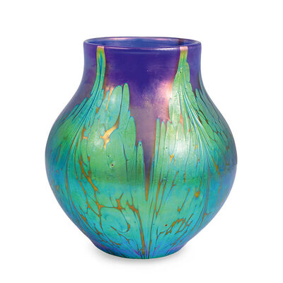 Loetz, 'Loetz Vase Medici Decoration blue opal ca. 1900', ca. 1900