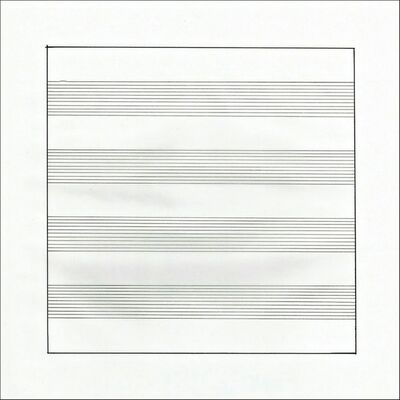 Agnes Martin, 'Untitled (X) Lithograph on Vellum Parchment, from Stedelijk Museum (Framed)', 1990