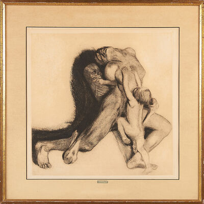 "Käthe Kollwitz, 'Two Artworks: ""Tod Und Frau"" (Death and The Woman)'"