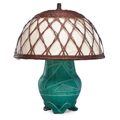 William McDonald, 'Z-line vase made into a lamp, Cincinnati, OH', 1901