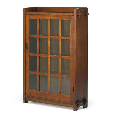 L. & J.G. Stickley, 'Single door bookcase, Fayetteville, NY', ca. 1908