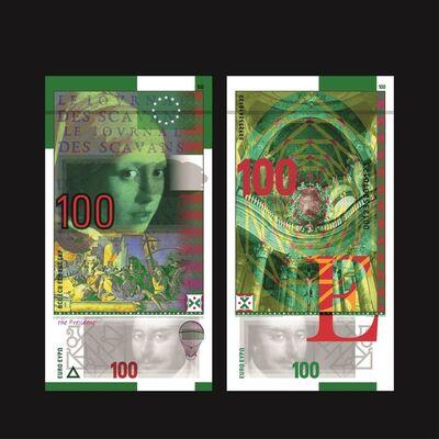 Roger Pfund, 'Billet 100 Euro, Série « Epoques et Styles »', 2018