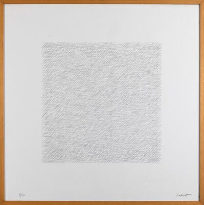 Sol LeWitt, 'Lines of 1 Inch in 4 Directions and All Combinations 8', 1971