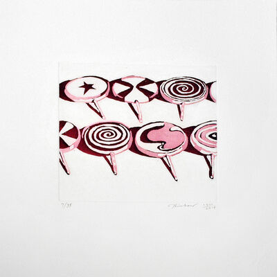 Wayne Thiebaud, 'Little Red Suckers', 1971