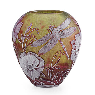 Jonathan Harris, 'Vase With Dragonfly, Butterfly And Flowers, England', 2000
