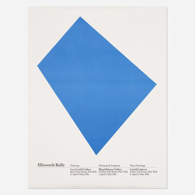 After Ellsworth Kelly, 'exhibition poster', 1980