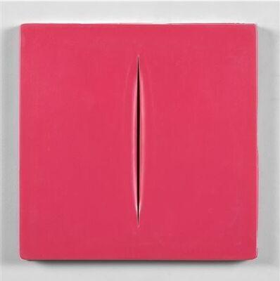 Lucio Fontana, ' Concetto Spaziale (Pink)', 1968
