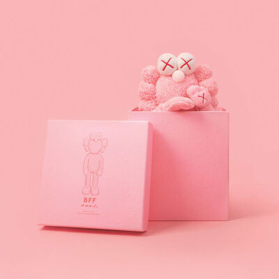 KAWS, 'KAWS Pink BFF Plush Toy Collectible in Box, Limited Edition #2930 of 3000', 2019