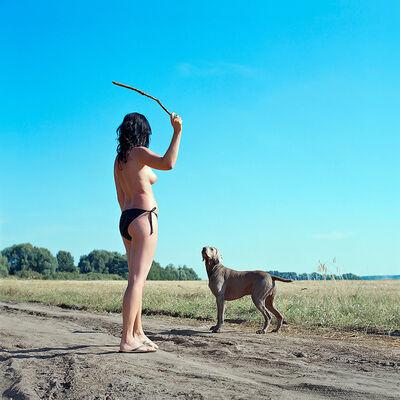 Evžen Sobek, 'Untitled (Woman with Dog)', 2009